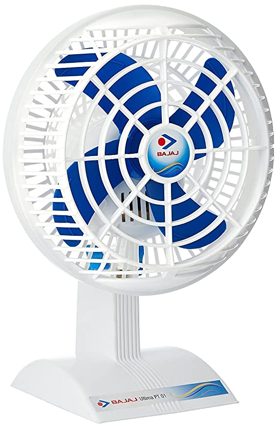 Bajaj Ultima PT01 14 Inch Small Table Fan (White)