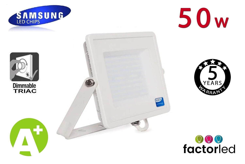 FactorLED Foco Proyector LED Exterior SAMSUNG Blanco 50W IP65 ...