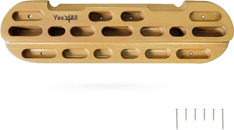 Yes4All - Colgador para Escalada en Roca para Fortalecer los Dedos, Manos y muñecas