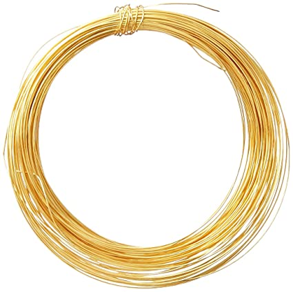 26 Gauge Wire >> Amazon Com Jewelry Designer 3958 29 26 Gauge Wire Strlng Plate 24kt