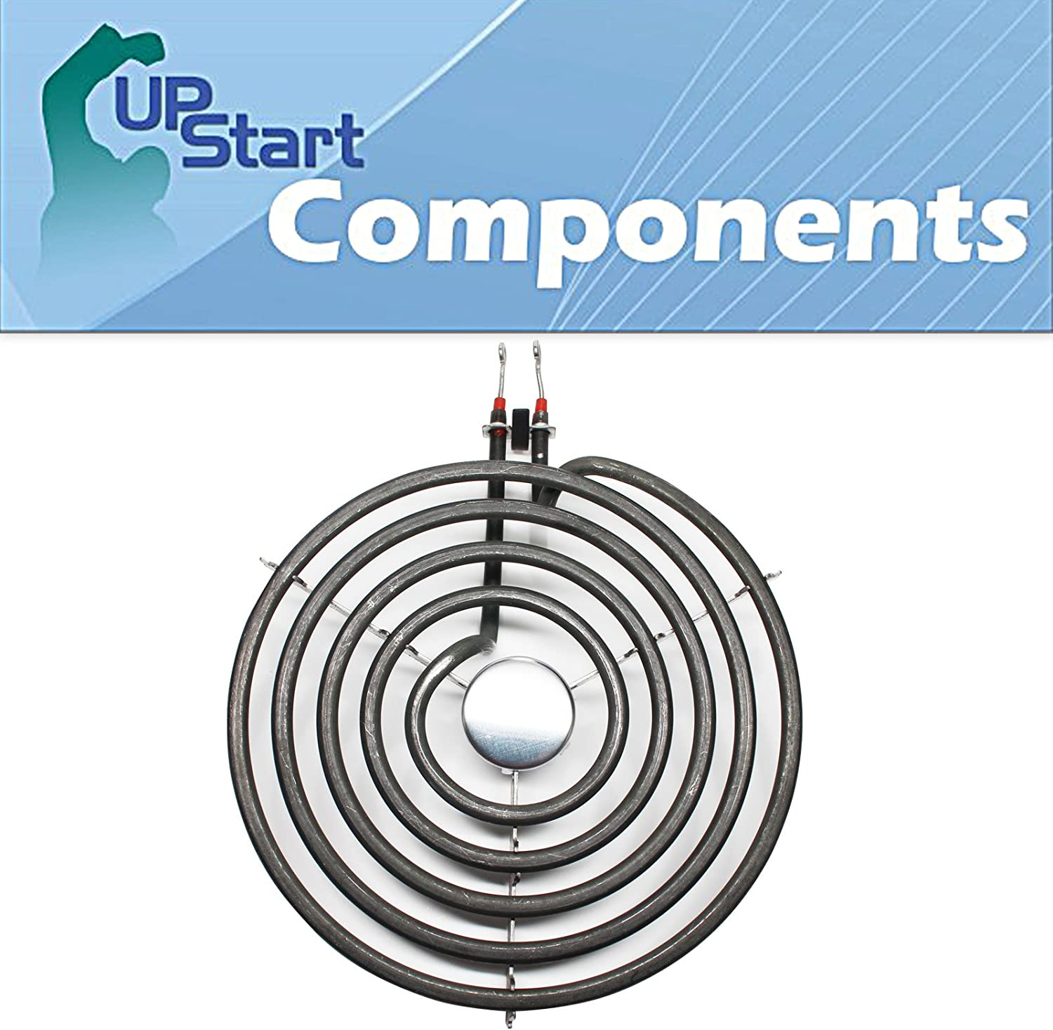 Surface Burner 8 inch 5 Turns Element Replacement for Jenn-Air, Amana, Maytag, Whirlpool - Compatible with Jenn-Air A100, Amana ARR6400WW, Jenn-Air A100B, Maytag CRE7500ACW, Whirlpool RF263LXTQ3