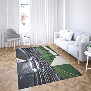 Sertiony Colorful Area Rug Extra Large Area Rug Super Soft Area Rug 5X7 Feet Jan View The Side Line Field in Cowboys Stadium Texas Blanket Furniture Decoration Living Room Bathroom Bedroom