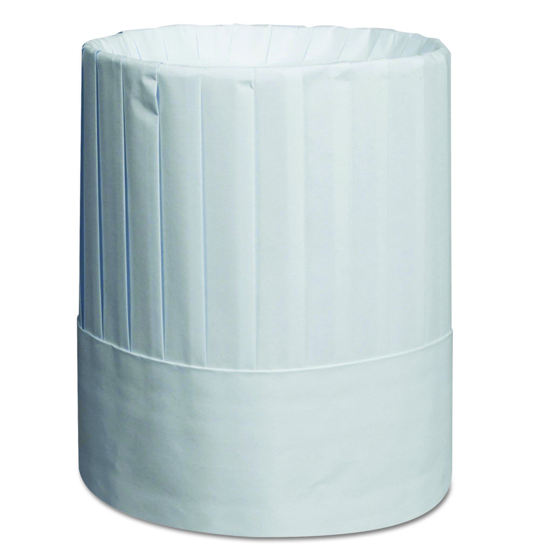 Royal RCH9 Pleated Chef's Hats, Paper, White, Adjustable, 9 In Tall (Case of 24)