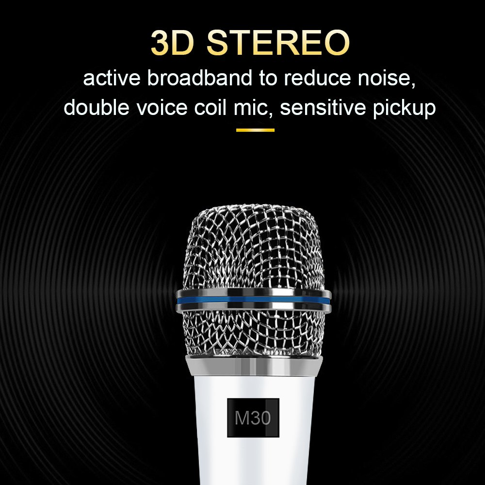 Professional Condenser Microphone Recording with Stand for PC Computer iphone Phone Android Ipad Podcasting, Online Chatting Mini Microphones by XIAOKOA (M30-White) by XIAOKOA (Image #2)