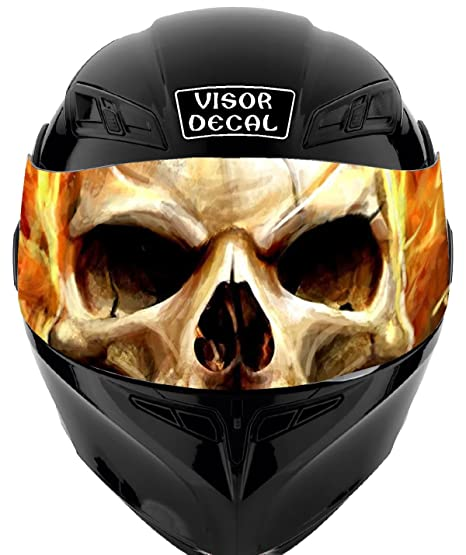 e64c6f69 Amazon.com: V30 Skull Flames VISOR TINT DECAL Graphic Sticker Helmet Fits:  Icon Shoei Bell HJC Oneal Scorpion AGV: Automotive