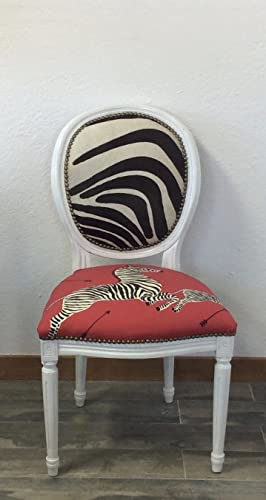 Astounding Amazon Com Louis Xv French Style White Round Back Side Inzonedesignstudio Interior Chair Design Inzonedesignstudiocom