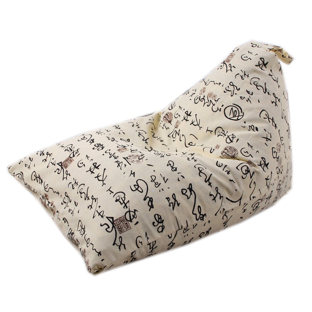 Zerototens Children Toy Storage Bag 65*95*55Cm, Plus Size Kids Stuffed Animal Plush Toy Storage Bean Bag Soft Pouch Stripe Fabric Chair (65*95*55cm, F)