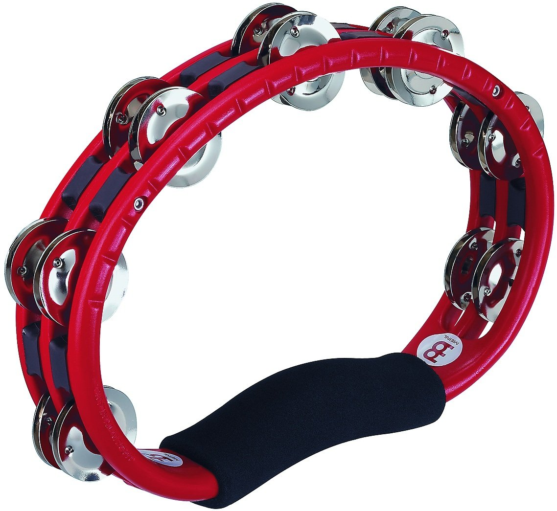 Meinl Percussion TMT1R ABS Plastic Handheld Tambourine, Red by Meinl Percussion