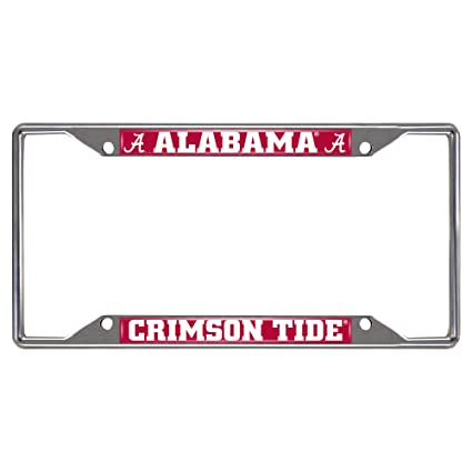 Amazon.com: Fanmats NCAA University of Alabama Crimson Tide Chrome ...