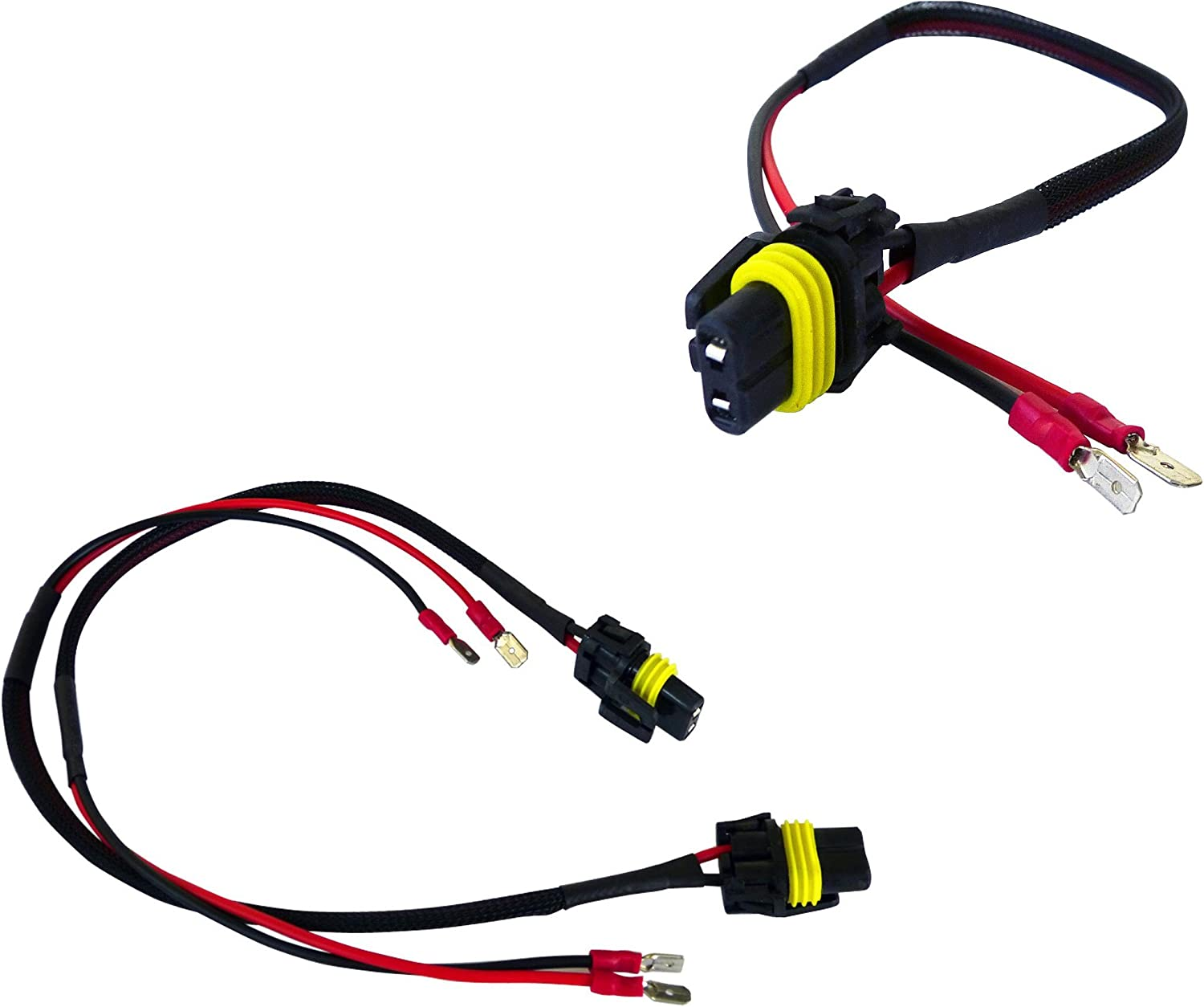 Amazon.com: AGT H1 H3 Male Connectors Plugs Pigtail Bulb Wire Harness HID  Input Wires (Pack of 2)