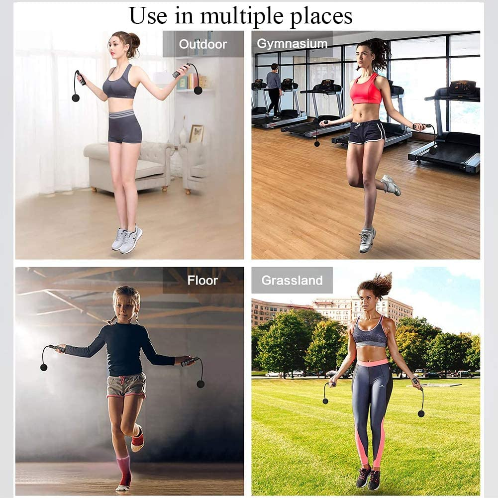 Home for Men,Women Workout Jump Rope Cordless Indoor Ropeless Jump Rope Weighted for Exercises Exercise Cordless Ball for Fitness Kids Outdoor