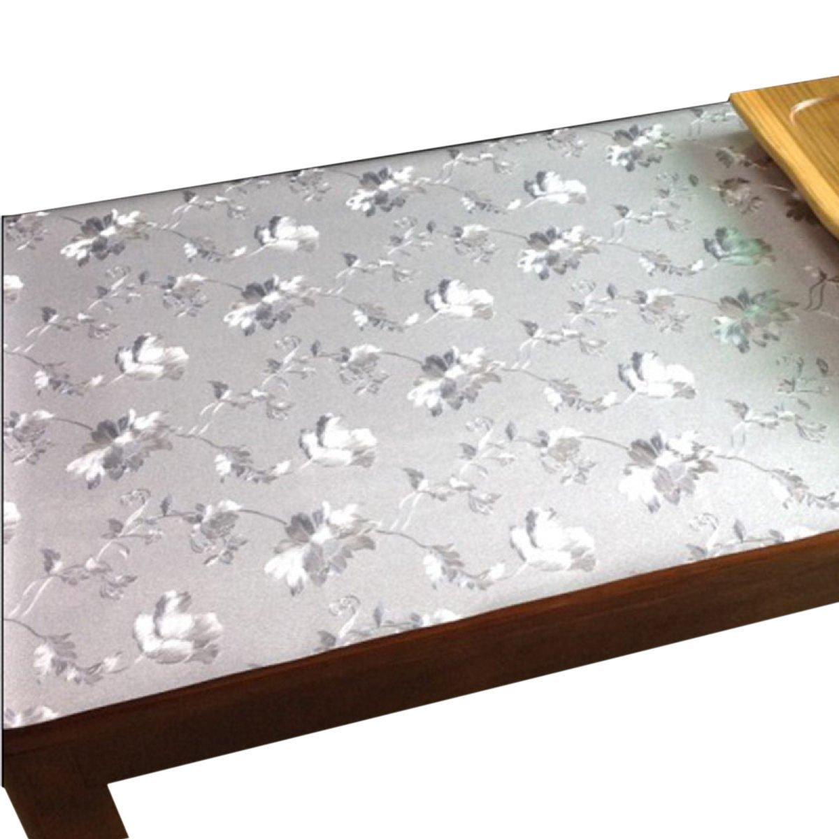 Dfb Folder Fiori Tovaglie In Vetro Morbido colore PVC Tavolo In Cristallo Piastre Da Tavolo Vetro Soffice In Vetro Di Plastica,F