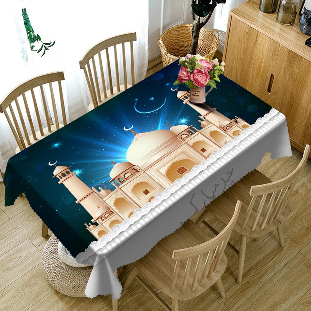 Ropa de Cocina Manteles rectangulares - 3D Landscape Series Tablecloth Vc29 - Respetuoso con el Medio Ambiente y sin Sabor - Impreso digitalmente a Prueba de Agua (Tamaño : Rectangular -228cmx396cm)