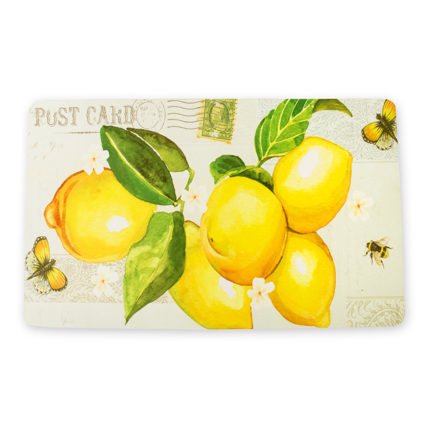 Lemon Decorative Non Slip Kitchen Mat Perfect For in Front of Sink, Stove, Kitchen