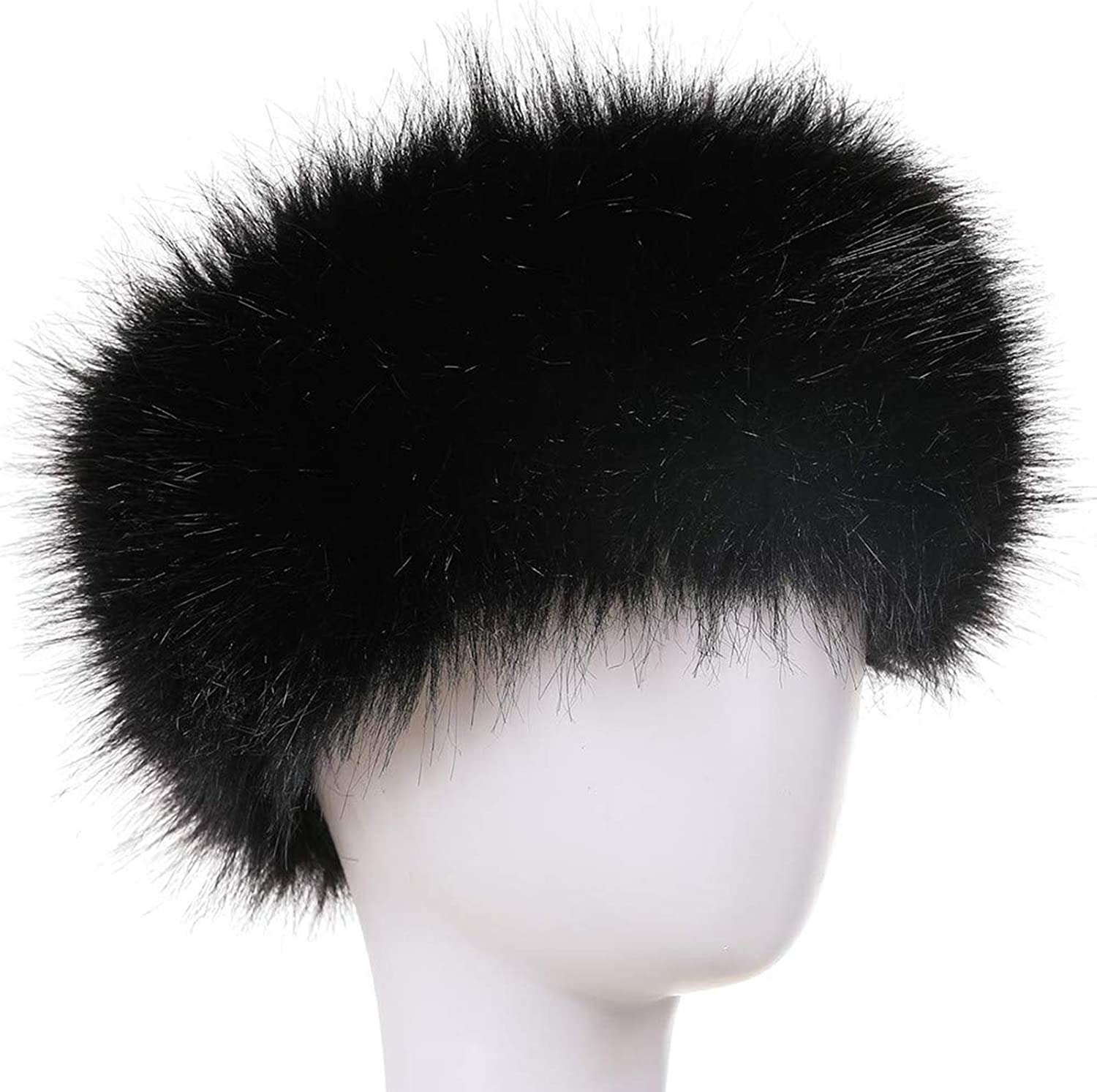 New Shadow White Fox Fur Headband 26 Inches Long and 5 Inches Wide