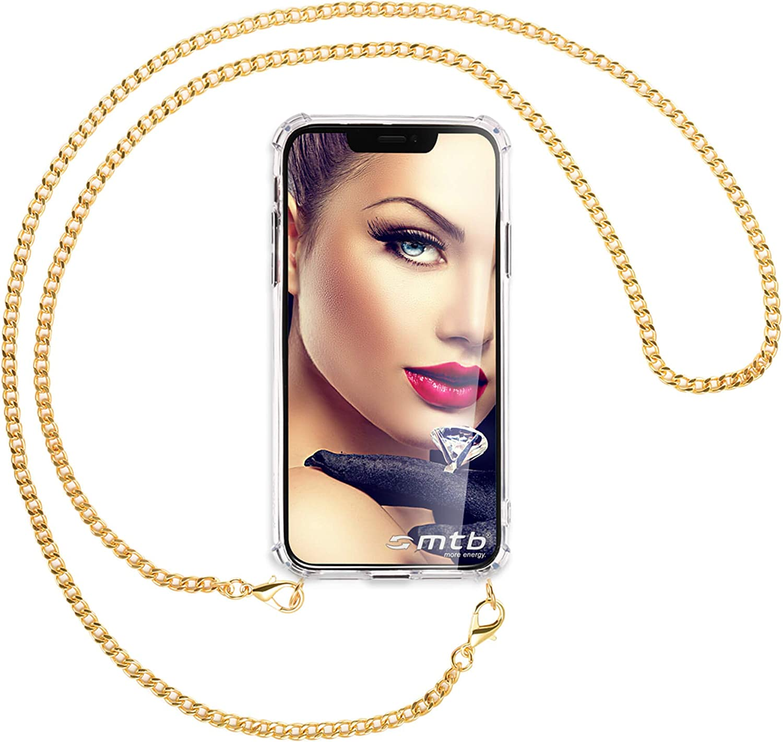 mtb more energy® Collar Smartphone para Xiaomi Mi A2 Lite/Redmi 6 Pro (5.84'') - Cadena de Metal (Oro) - Funda Protectora ponible - Carcasa Anti Shock