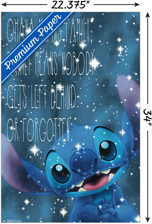 Wtf Disney Designs Plaque murale en m/étal Art Inspirational Ficelle - Ohana Beige divers