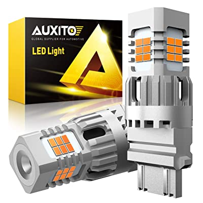 AUXITO 3157 3156 LED Turn Signal Light Bulbs High Power 3056 3057 4157 LED Bulbs Blinker Light 25W Per Bulb Amber Yellow Pack of 2: Automotive