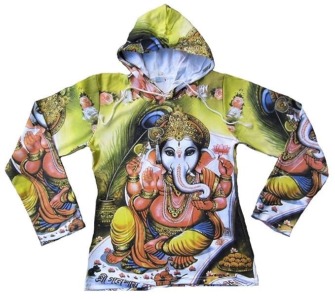 ticila saleandmore – Camiseta de mujer de manga larga Hoodie Hoody verde popular Hindu deity God