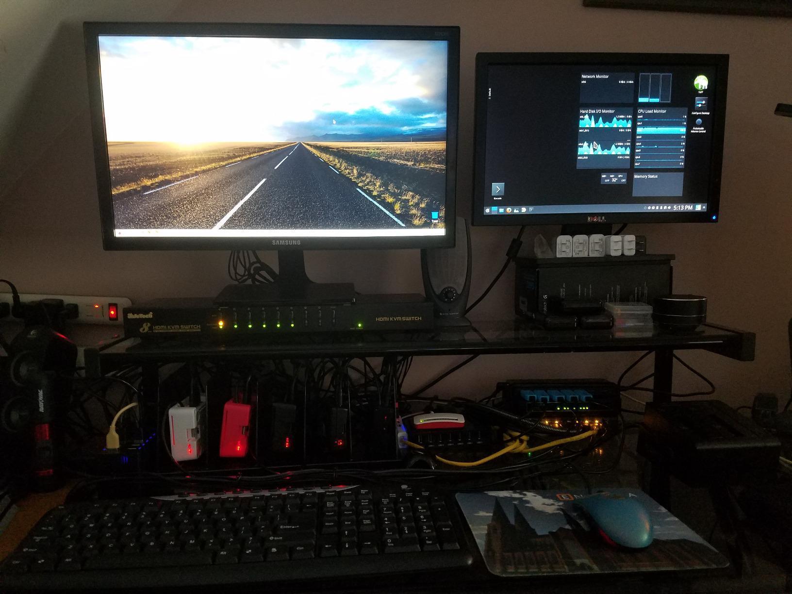 JideTech KVM Switch HDMI 4 Port USB Keyboard Video Mouse