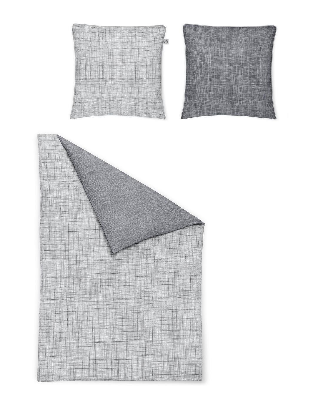 Irisette Mako Satin Bettwäsche 2 teilig Bettbezug 155 x 200 cm Kopfkissenbezug 80 x 80 cm Sol-K 314077-20 Denim