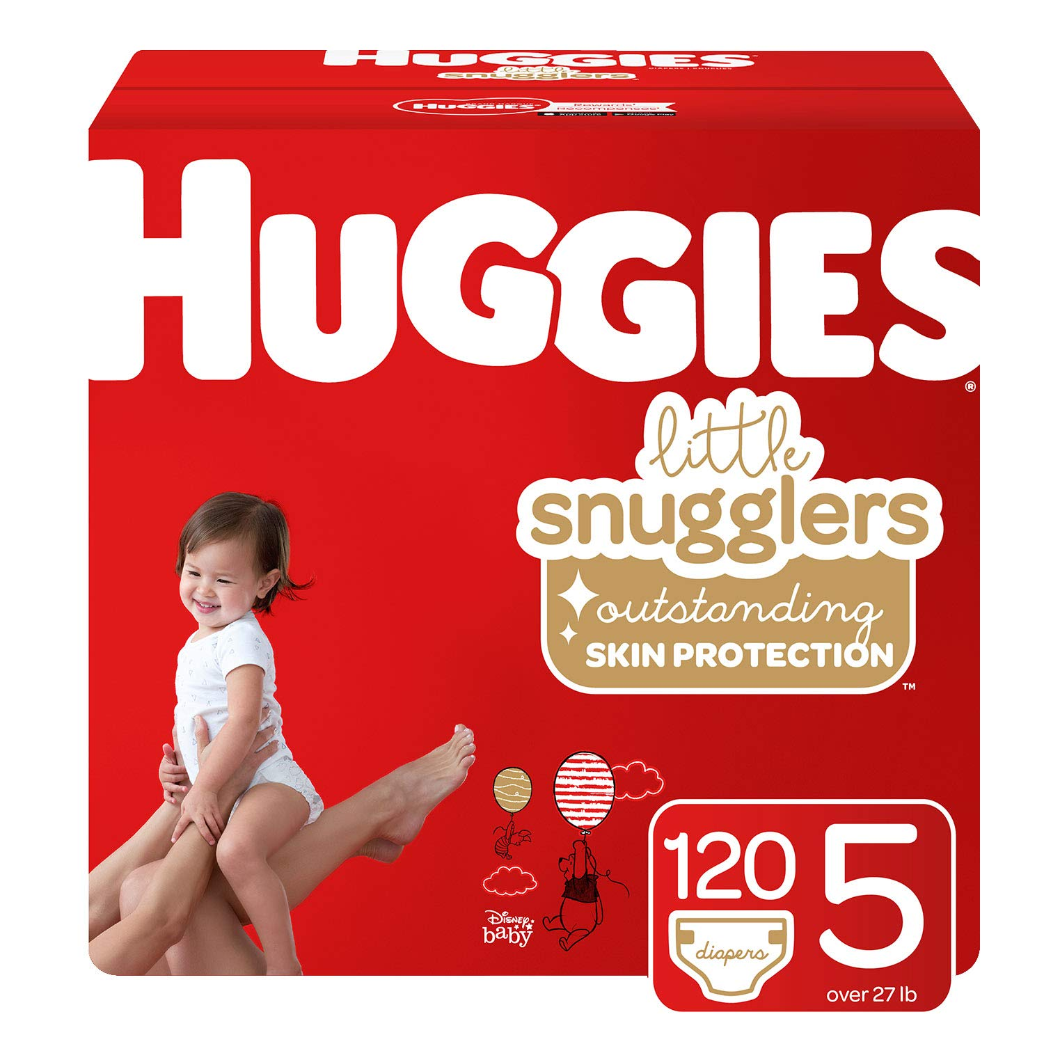 Sensitive 6 Disposable Flip-Top Packs Size 3 Packaging May Vary 156 Ct /& Huggies Natural Care Unscented Baby Wipes Huggies Brand Bundle Huggies Little Snugglers Baby Diapers 288 Total Wipes