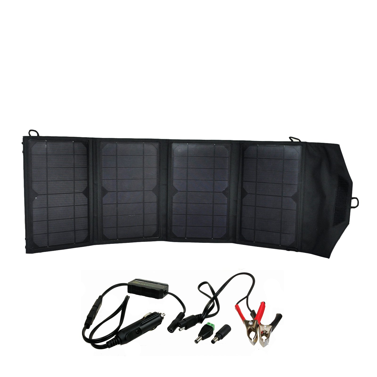 Instapark Mercury27 27-watt Compact Foldable Solar-powered Battery Charger with 12V Output for Instapark Mars20S, Powerpack Series & Wagan Power Dome Series and Dual USB Ports