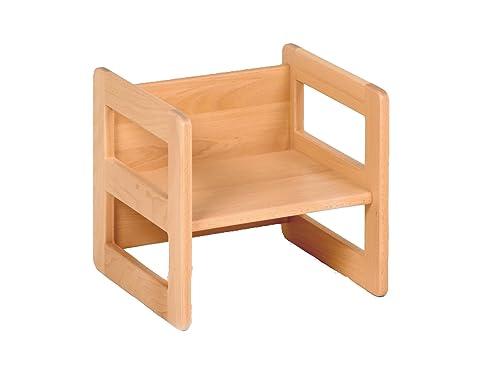 Kindermöbel holz  Kindermöbel Wendehocker Holz, praktischer Kinderhocker der ...