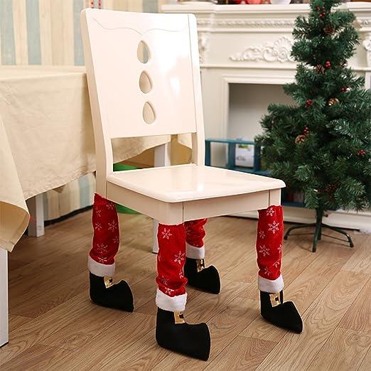 gwell Navidad decoración Cobertor Calcetines silla pata de mesa ...