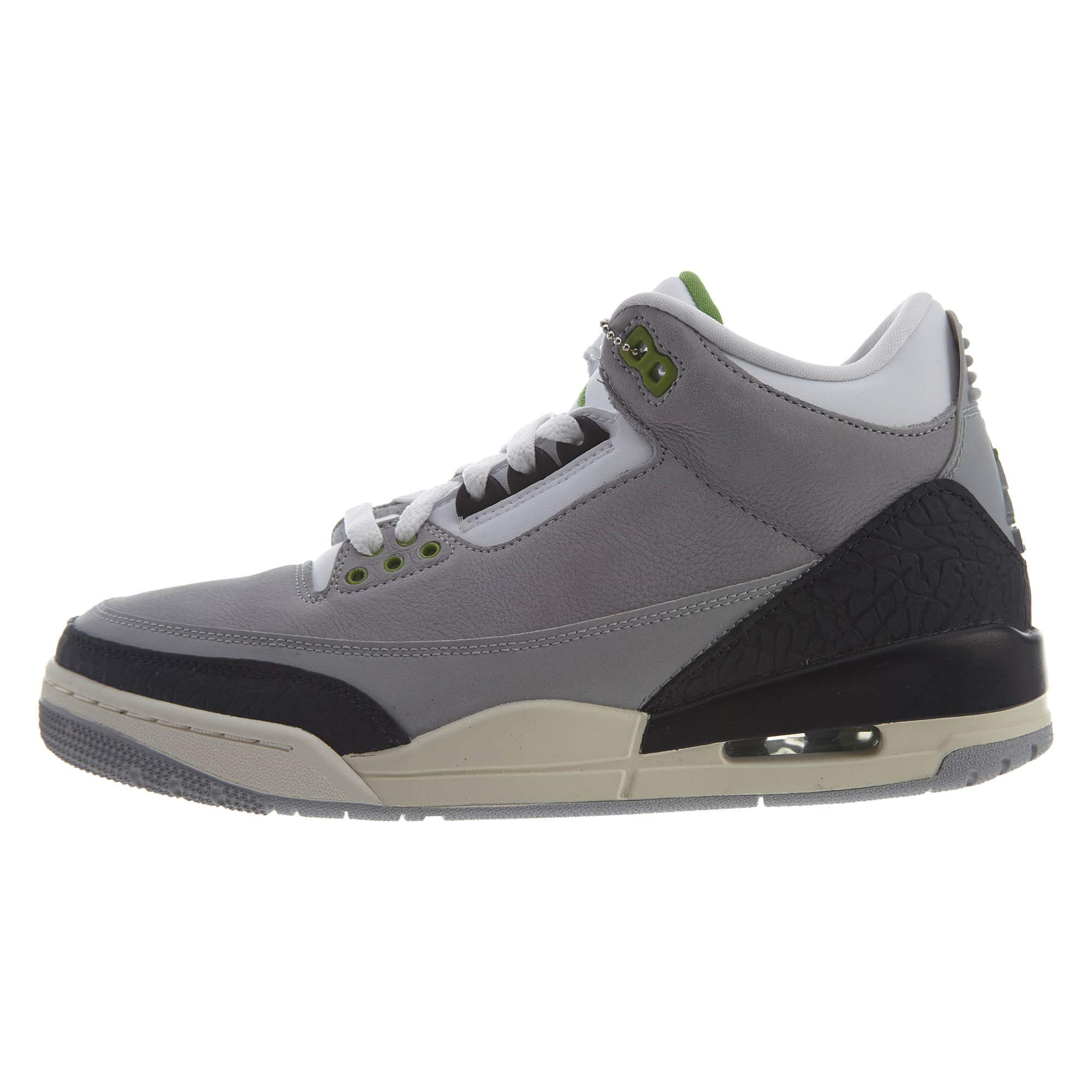 best sneakers 37926 c0ed4 Jordan 136064-006: Mens Air 3 Retro Tinker Light Grey/Chlorophyll/Black  Sneakers (12 D(M) US Men)