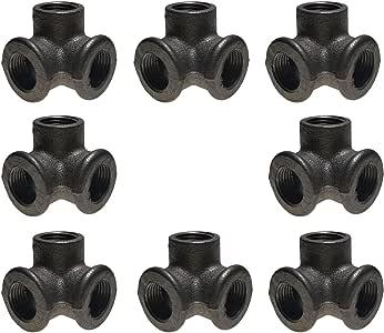 GPOWER color negro Pezones de tuber/ía de hierro fundido maleable de 3//4 pulgadas x 8 pulgadas 10 unidades