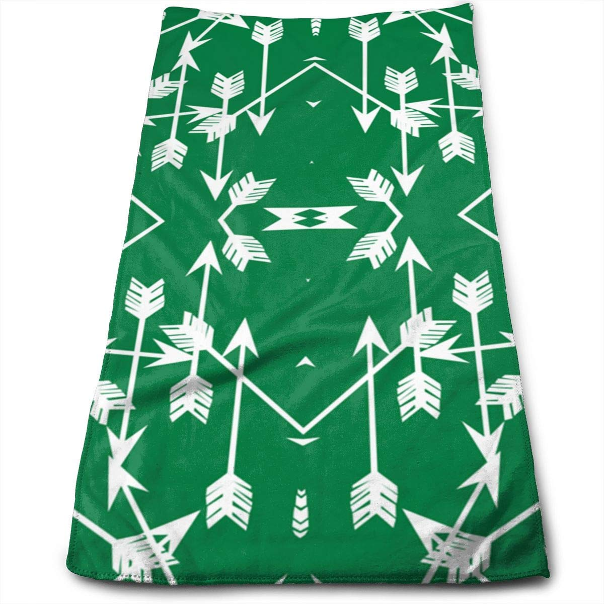 OQUYCZ Arrow Green Microfiber Bath Towels,Soft, Super Absorbent and Fast Drying, Antibacterial, Use for Sports, Travel, Fitness, Yoga