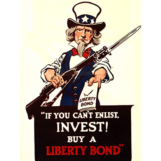 PROPAGANDA WAR BONDS LIBERTY AMERICA USA UNCLE SAM ART PRINT ...