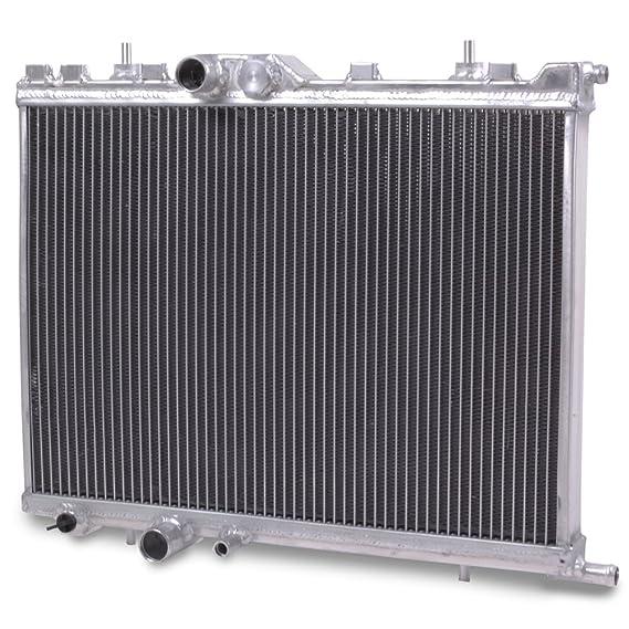 42mm alto flujo aluminio doble núcleo motor raza radiador de enfriamiento: Amazon.es: Coche y moto