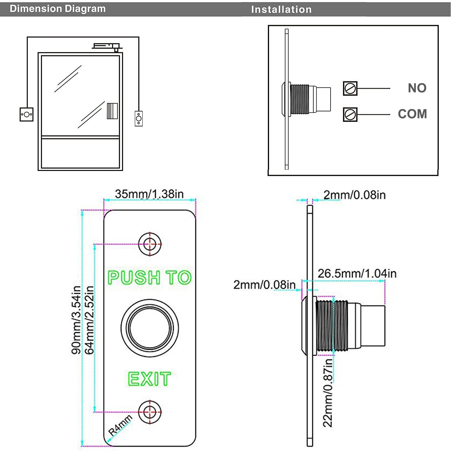 35 Push To Exit Button Wiring Diagram