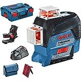 Bosch Professional Çizgi Lazeri Gll 3/80 C (Kırmızı Lazer, Bluetooh Fonksiyonu, 1 Akü, 12V, Çalışma Alanı: 120 M, L/Boxx Içinde)