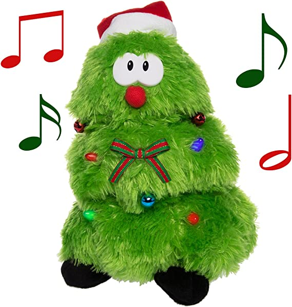 Simply Genius Singing Dancing Christmas Tree Animated Christmas Tree Animated Christmas Plush Animated Christmas Toys Animated Christmas