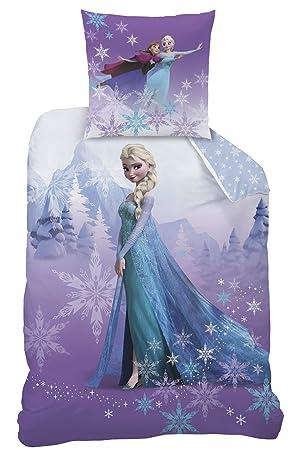 Familando Flanelle Parure de lit réversible la Reine des Neiges