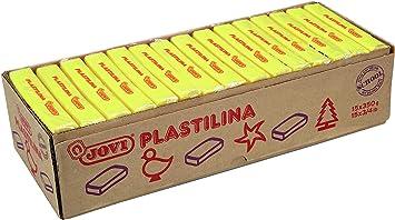 Jovi - Caja de plastilina, 15 pastillas 350 gr, color amarillo (7202): Amazon.es: Oficina y papelería