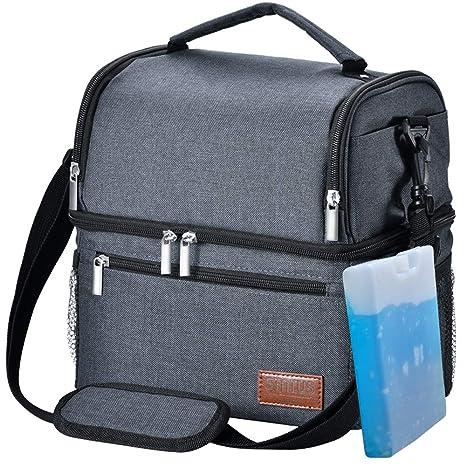 Amazon.com: Bolsa de almuerzo aislada, bolsa térmica STNTUS ...