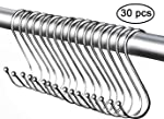 Ganchos resistentes en forma de S, resistentes al óxido, con acabado plateado, de acero, para utensilios de cocina...