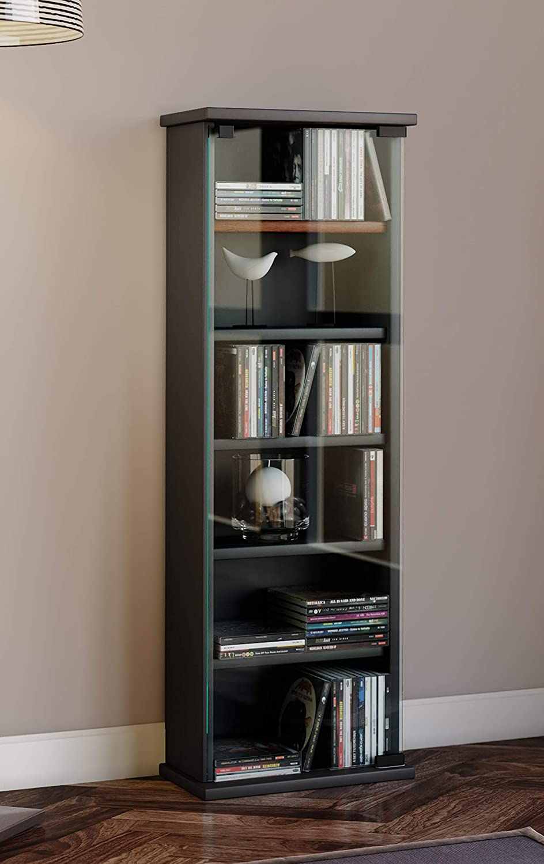 Amazon Com Vcm Shelf Cabinet Storage Unit Cd Dvd Media Furniture
