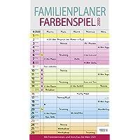 Familienplaner Farbenspiel 2020: Familienkalender, 5 breite Spalten, guter Überblick durch farbliche Wochen. Mit Ferienterminen, Vorschau bis März 2021 und nützlichen Zusatzinformationen.