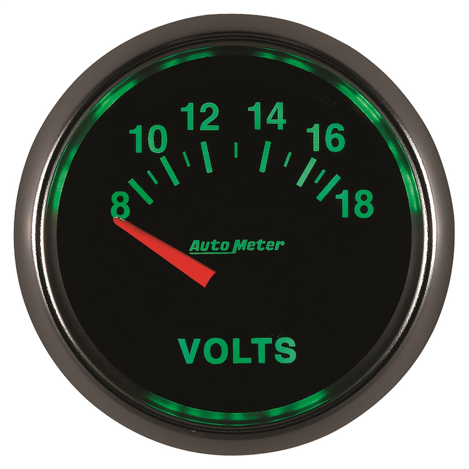 Auto Meter 3892 GS 2-1/16'' 8-18V Short Sweep Electric Voltmeter by AUTO METER