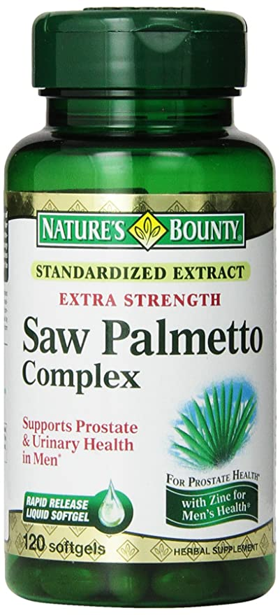 Natures Bounty Extra Strength Saw Palmetto Complex, 120 Softgels