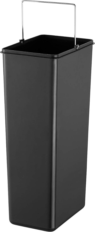 Grigio Freddo 5-10 L Cool Grey Acciaio Inossidabile profilato BLACK+DECKER 61089 BXBN0005GB Cestino Rettangolare a Pedale da 5 L con Coperchio a Chiusura rallentata 30 cm x 14 cm x 29 cm