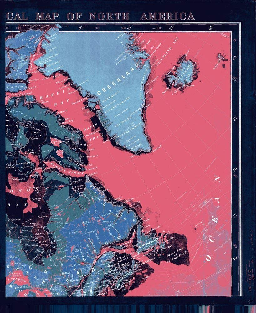 NOAA Blueprint Style 18 x 24 Nautical Chart Stanford's New Orographical Map of North America Stanford 85a