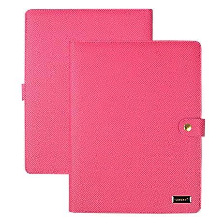 cornmi padfolio resume portfolio folder pu leather file folders with 5 card slots phone