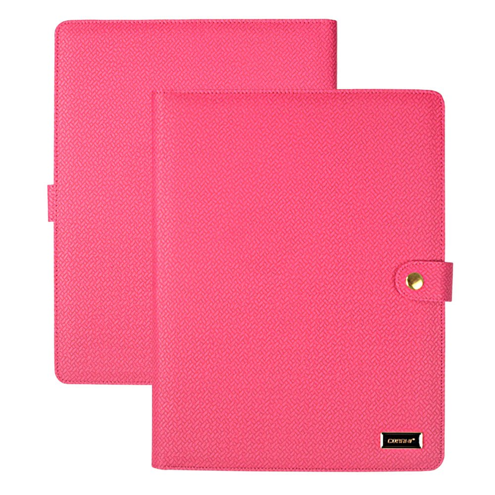 CORNMI Padfolio Resume Portfolio Folder, PU Leather File Folders with 5 Card Slots & Phone/iPad Pockets - Presentation Office Organizer Folder (Business Portfolio Padfolio-Rose)
