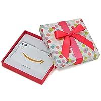 Amazon.de Geschenkkarte in Geschenkbox (Bunte Punkte) - mit kostenloser Lieferung per Post